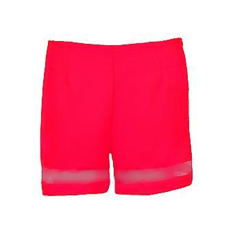 Damer Mesh Panel kortærmet Party kvinder er tekstureret Neon Top og Shorts