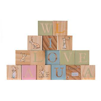 Rainbow Designs devine combien je t'aime les blocs en bois photo
