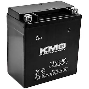 YTX16-BS Sealed Maintenance Free 12V Battery High Performance SMF OEM Replacement Powersport Motorcycle ATV Scooter Snowmobile Watercraft