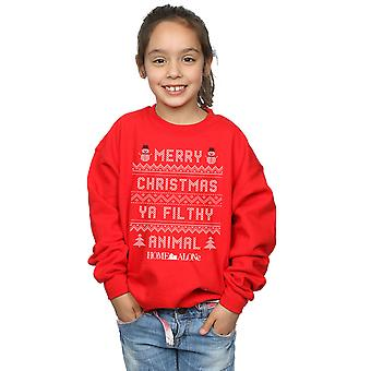 Home Alone Girls Filthy Animal Knit Style Sweatshirt