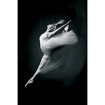 Ballerina poster (art print) genade in beweging balletdanseres