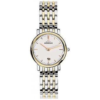 Michel Herbelin Womans Two Tone Strap White Index Dial 16945/BT11 Watch
