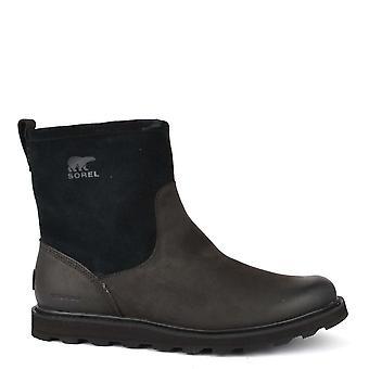 Sorel Men's Madson Black Waterproof Zip Boot