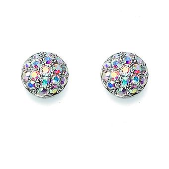 Oliver Weber Post Earring Make Rhodium Crystal