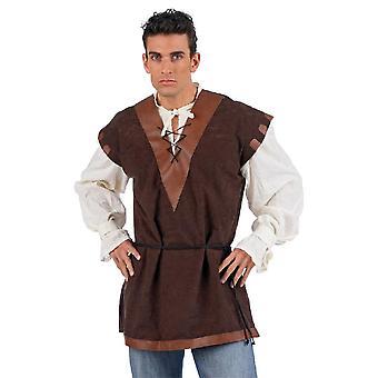 Con host de chaleco delantal edad media edad media camisa chaleco de los de hombres traje traje de Señor