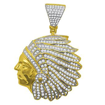 925 sterling silver micro pave pendants - Indian gold