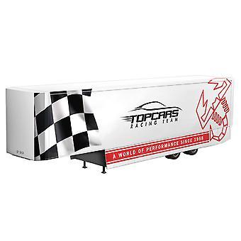 Italeri Plastic Model White Racing Trailer