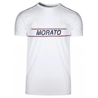 Antony Morato Sport Crew Neck White Chest Print T-Shirt