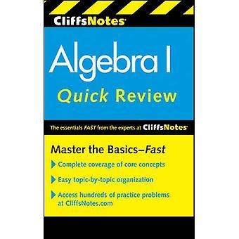 CliffsNotes Algebra I snabb recension (2: a reviderade upplagan) av Jerry Bob