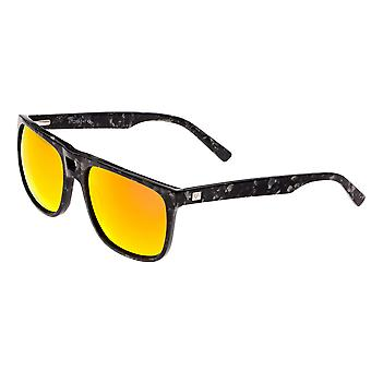 Sixty One Morea Polarized Sunglasses - Black Tortoise/Red-Yellow