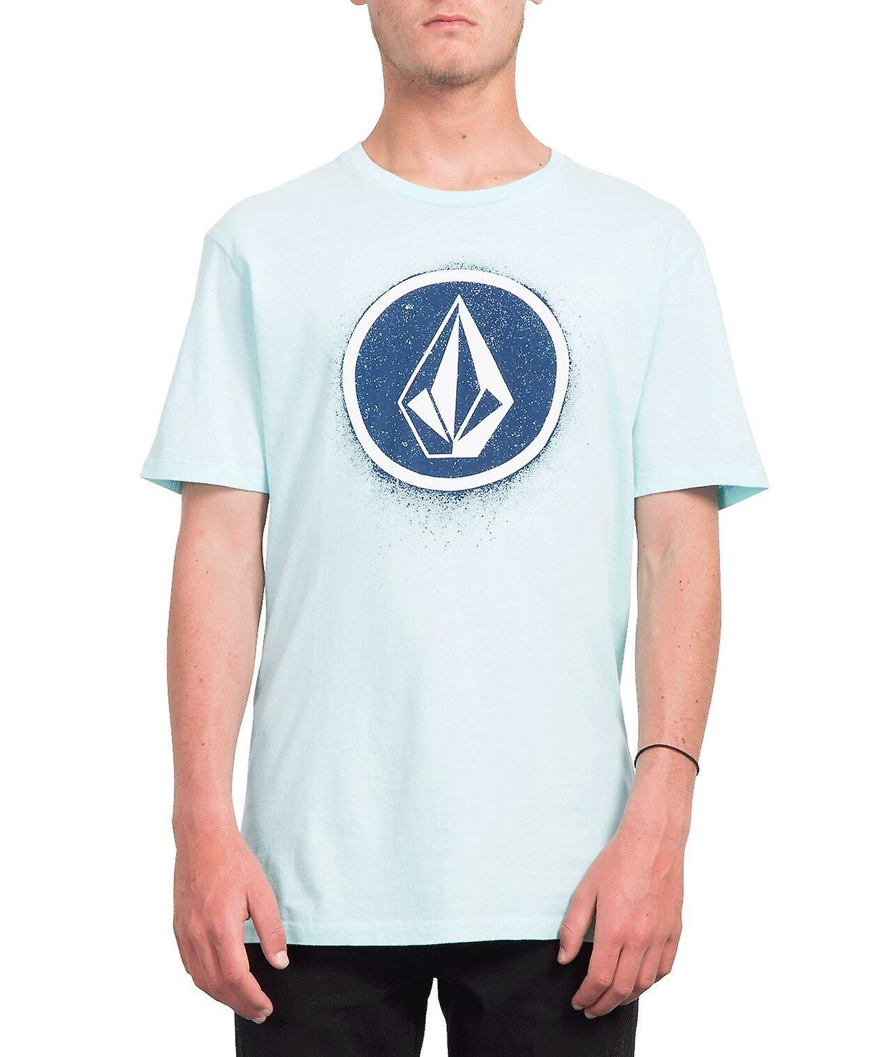 Volcom Men's T-Shirt ~ Spray Stone mint