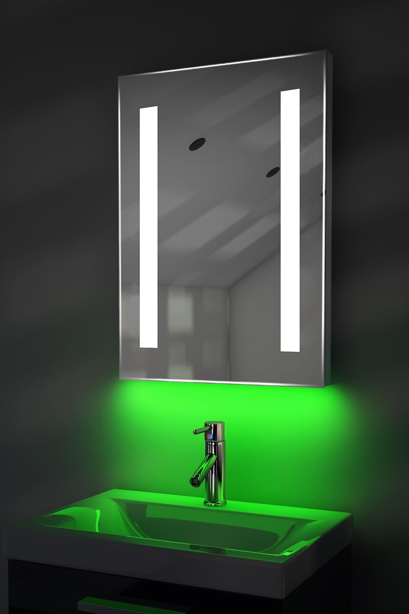 Auto couleur changement rasoir miroir avec désembuage & K205iRgbaud capteur