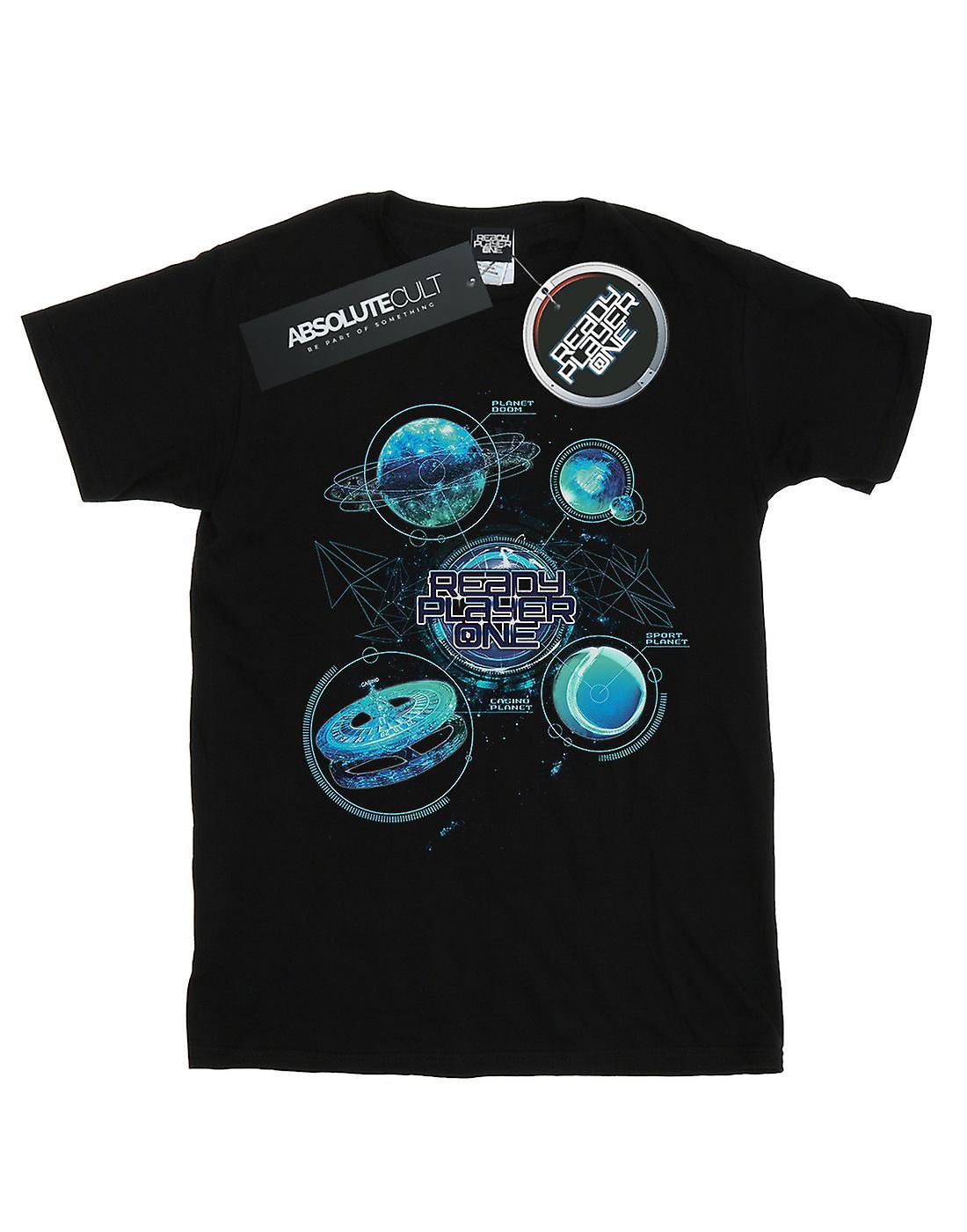 Ready Player One Women's Universe Map Boyfriend Fit T-Shirt