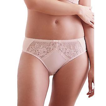 Guy de France 67121-D Women's Light Pink Lace Knickers Panty Full Brief