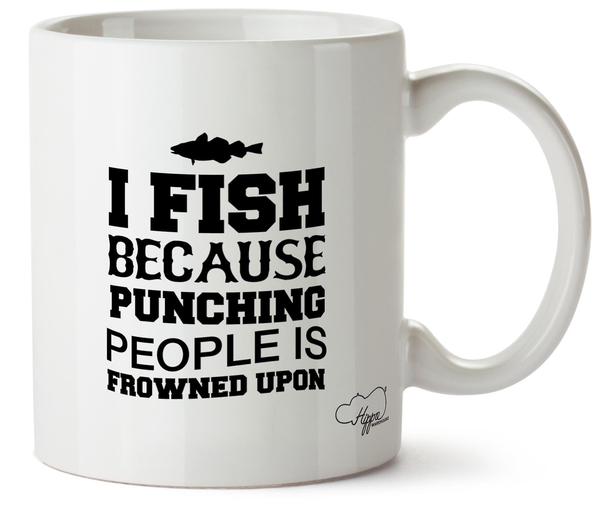 Hippowarehouse, которую я ловлю рыбу, потому что пробивая людей является неодобрением 10 oz кружка Кубок