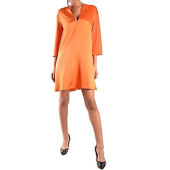 Twin-set Ezbc060043 Women's Orange Silk Dress