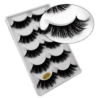 5-pair false eyelashes-3D faux mink-G703