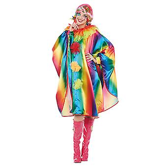 Rainbow Cape damer kostume Cape ærme poncho
