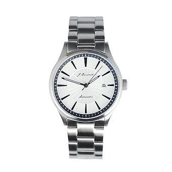 J. Brackett Navigli Bracelet Watch w/Date - Silver/White