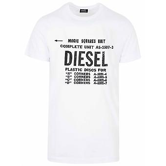 Diesel White New Diego Logo T-Shirt