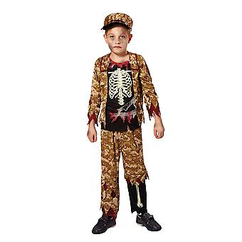 Skelett pojke soldat (S)