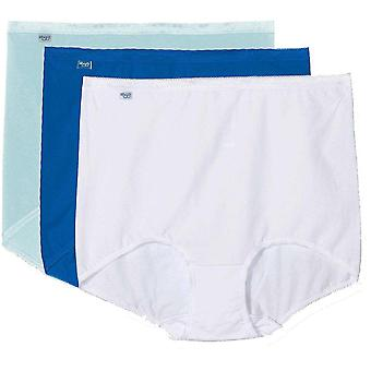 Sloggi Women Basic 3 Pack Maxi Brief, Turquoise - Dark Combo, Size 14