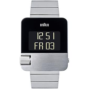 Braun prestige digital quartz digital men's watch with BN0106SLBTG stainless steel bracelet