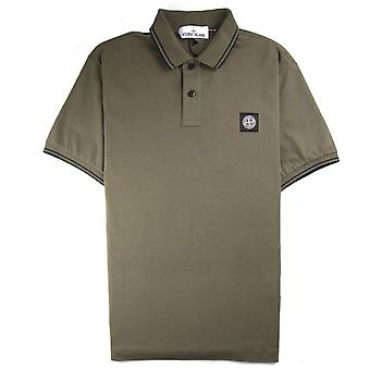 Stone Island Twin Tipped Short Sleeve Polo Shirt 'Regular Fit' Khaki