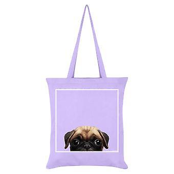 Inquisitive Creatures Pug Tote Bag