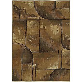 Genesis 8025x beige/green indoor area rug rectangle 4'x5'9