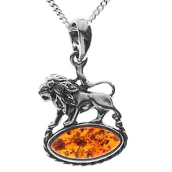 InCollections - Chain with woman pendant with amber - silver sterling 925 - cod. 241A200945890