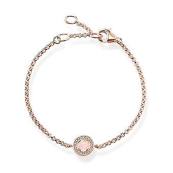 Thomas Sabo Gold Plated bracelet with transparent Zirconia by Donna Argento 925