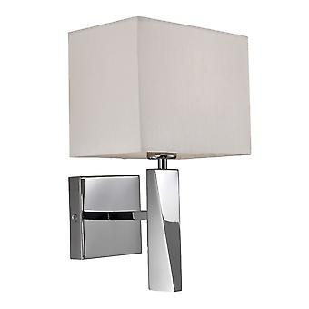 Firstlight - 1 Light Single Indoor Wall Light Polished Stainless Steel, Cream - 8225PST