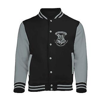 Harry Potter baseball jakke Galtvort Crest nye offisielle Mens Black Varsity