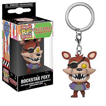 Five Nights Pizza Sim Rockstar Foxy Pocket Pop Keychain