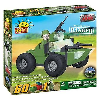 Small Army 60 Piece Ranger Military Vehicle Construction Set