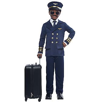 Airplane Pilot Captain Flight Aviator Uniform Book Week Girls Boys Costume