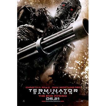 المنهي: ملصق الخلاص (المنهي 4) - T-600 القتال الأعمال الفنية الحرب الهيكل العظمي مزدوجة من جانب تقدم لنا ورقة واحدة (2009) ملصق السينما الأصلي
