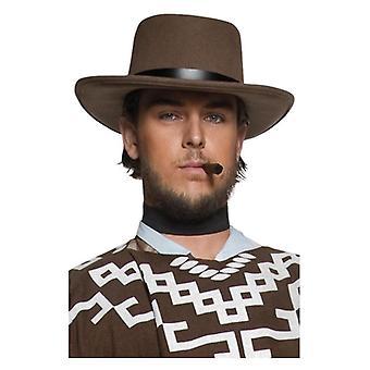 Authentieke Western mens zwerven gangster hoed Fancy Dress accessoire