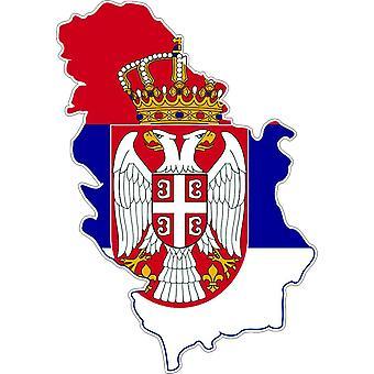 Tarra tarra liima vinyyli auto lippu kortti Serbia Serbia Serbia