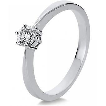 Diamantring ring-18K 750 hvidguld-0,31 CT.
