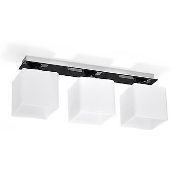 Sollux PIAZZA 3 Light Glass Shade Cluster White, Black SL.0223
