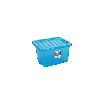 Wham Storage Pack Of 5 - 24 Litre Wham Crystal Plastic Storage Boxes With Lids