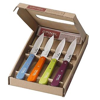 Opinel - Ensemble de 4 Paring Knives Pop Colours - Numéro 112