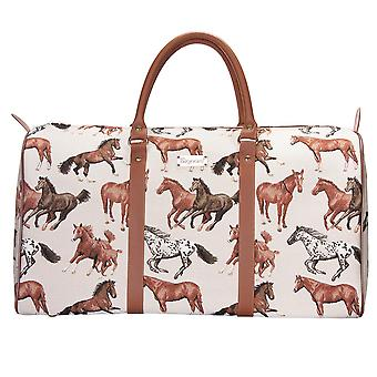 Running horse big luggage holdall by signare tapestry / bhold-rhor