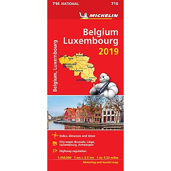 Belgium  Luxembourg 2019  Michelin National Map 716