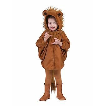 Lion Simba Costume pour enfants Poncho Hooded Cape Mane Africa Costume Kids Animal Costume