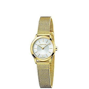 Calvin Klein Minimal Gold Coloured Stainless Steel Ladies Watch K3M23526 24mm