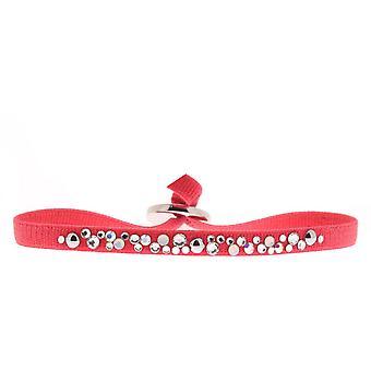 Bracelet Les Interchangeables A41182 - Bracelet Tissu Acier Rouge Femme