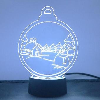 Weihnachtsdorf Schnee Szene Farbwechsel LED Acryl Licht